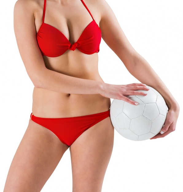 Sexy Premium Rojo Con Fotos Bikini FútbolDescargar Chica En kn0wOP