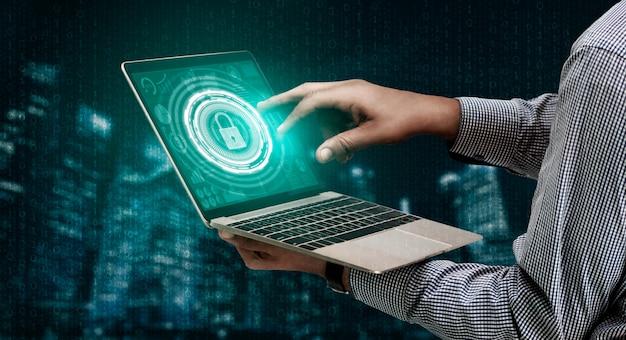 Ciberseguridad y protección de datos digitales Foto Premium