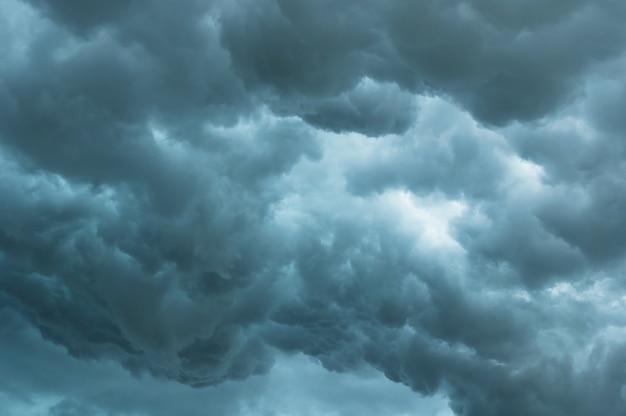 Cielo Oscuro Y Nubes Negras Dramáticas Nubes De Tormenta Antes De