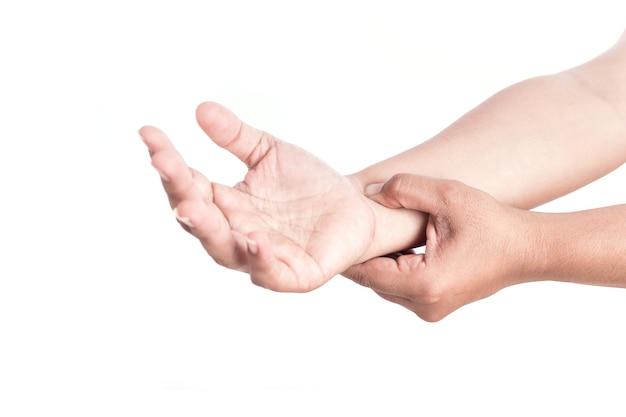 dolor de mano entre muñeca y codo