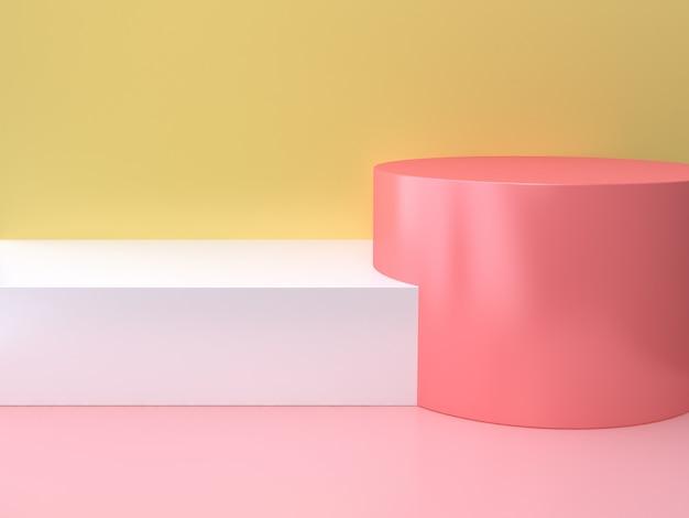 Cilindro rosa con escalón blanco Foto Premium