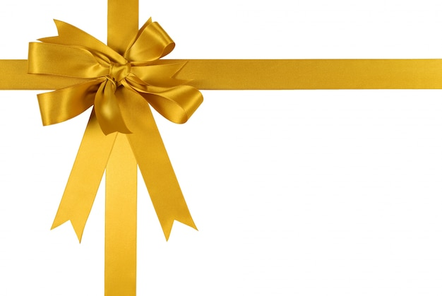 Cinta dorada de regalo con un lazo descargar fotos gratis - Cinta para regalo ...