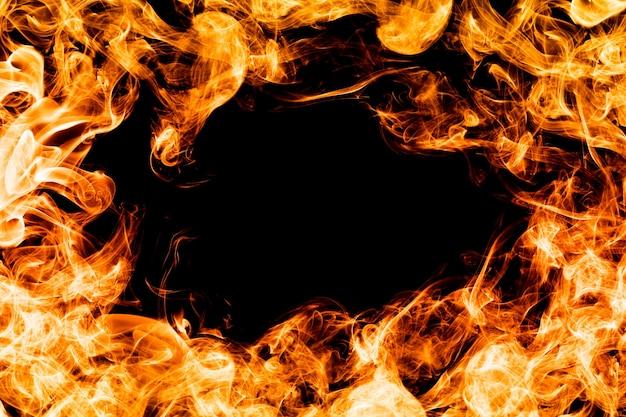 Circulo de llamas Foto gratis