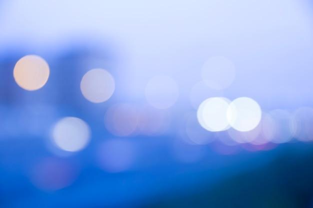 Ciudad abstracta de noche desenfocada Foto gratis