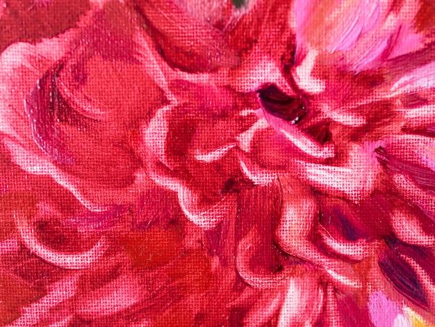 Close-up flor roja pintura acrílica Foto Premium