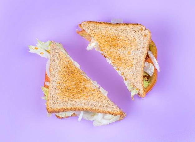 Club sándwich en rodajas Foto Premium