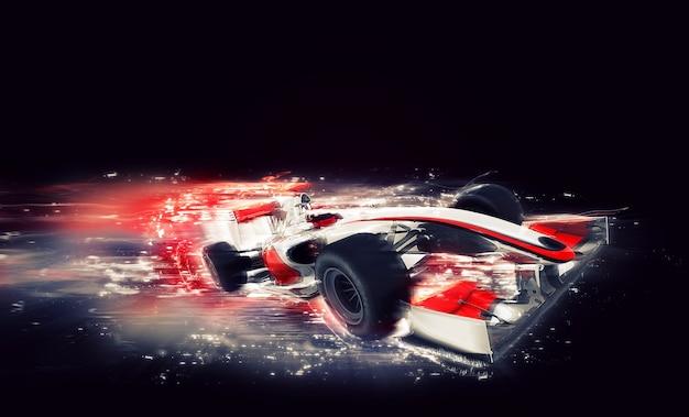 Coche genérico de f1 con efecto de velocidad especial. Foto gratis