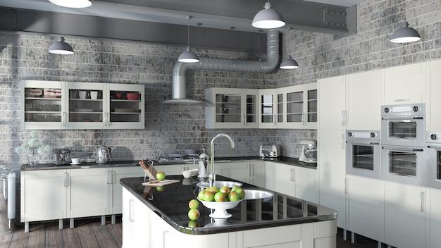 Cocina contemporánea Foto Premium