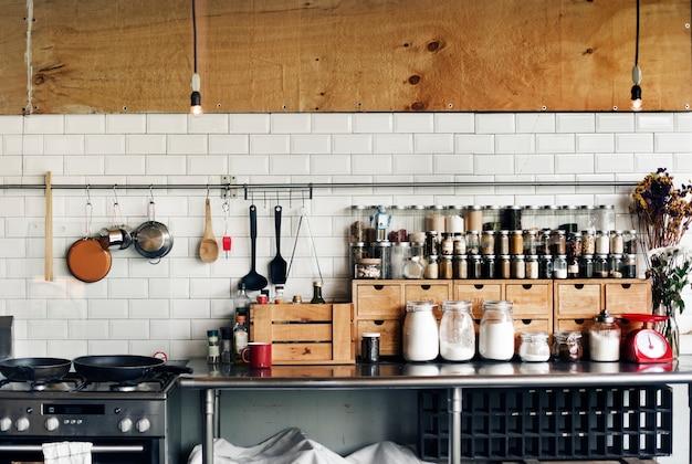 Cocina utensilios de cocina Foto gratis