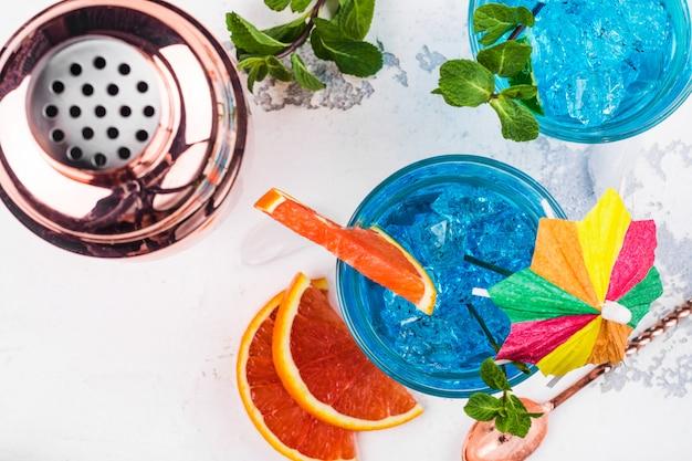 Cóctel de la laguna azul Foto Premium