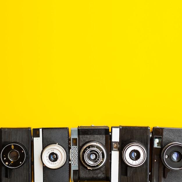 Coleccion de camara electronica Foto gratis