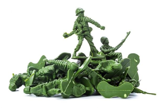Colección de soldados de juguete tradicionales. Foto Premium