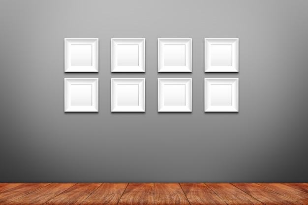 Collage de marcos de fotos blancos en la pared   Descargar Fotos premium