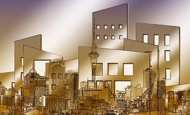 Collage ventana escena casa ciudad configuraci n casas for Foto casa gratis