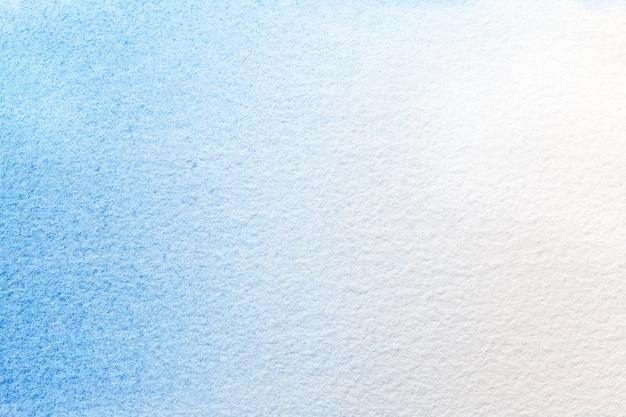 Colores de fondo azules claros y blancos del arte abstracto. acuarela sobre canva. Foto Premium