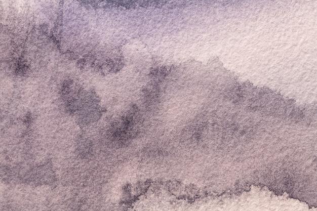 Colores de fondo purpúreos claros del arte abstracto. acuarela sobre lienzo con suave degradado violeta. Foto Premium