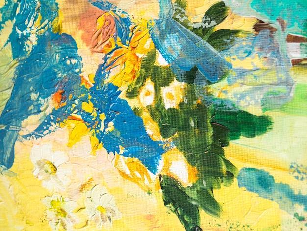 Colorida composición con pinturas acrílicas. Foto gratis