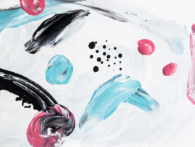 Colorida pintura acrílica con elementos minimalistas. Foto gratis