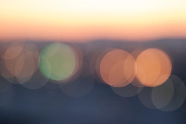 Colorido fondo bokeh suave rosa, azul, verde claro y amarillo Foto Premium