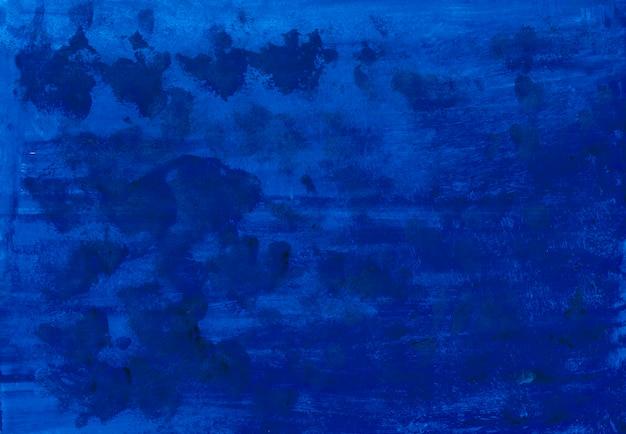 Colorido tinta azul oscuro. texturas de acuarela. fondo Foto Premium