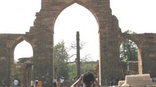 Columna de hierro de delhi Foto gratis