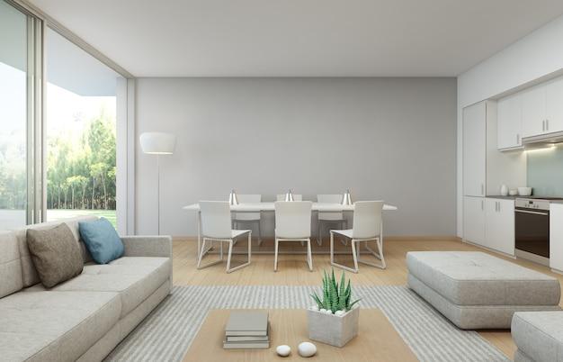 Comedor y sala de estar en casa de lujo en un dise o for Diseno de interiores sala de estar comedor