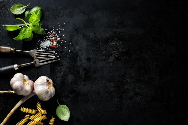 Comida con ingredientes Foto gratis