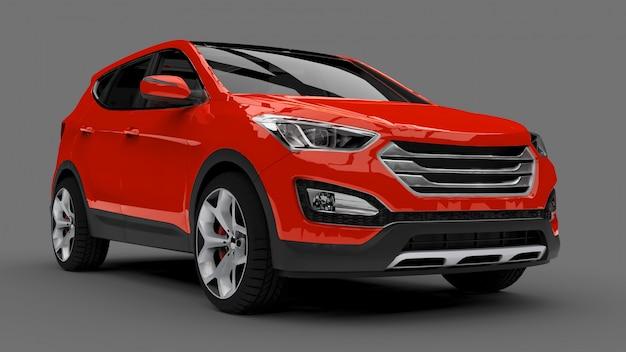 Compacto city crossover red car Foto Premium