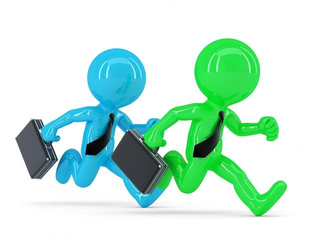 Competencia con dos empresario corriendo. concepto de negocio Foto gratis