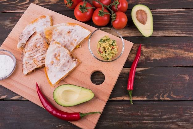 De la composición anterior de la comida mexicana. Foto gratis