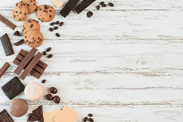 Composición de cookies con copyspace Foto gratis