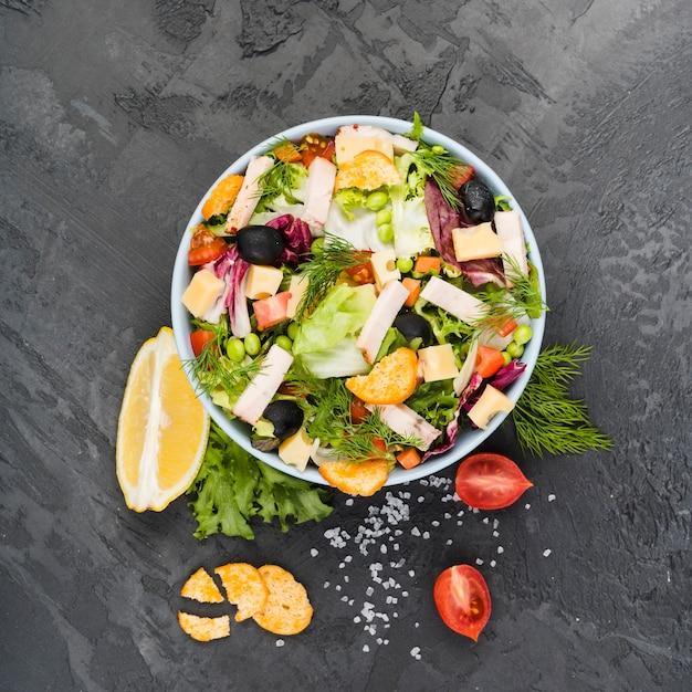 Composición flat lay de verduras sanas Foto gratis