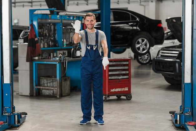 Composición de negocio de reparación de coches Foto Premium