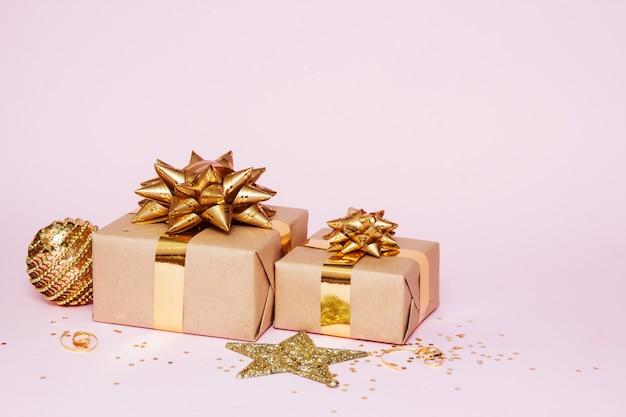 Composición de la tarjeta de felicitación de navidad Foto Premium