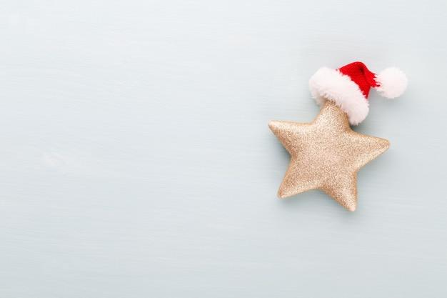 Composición de vacaciones de navidad en madera Foto Premium