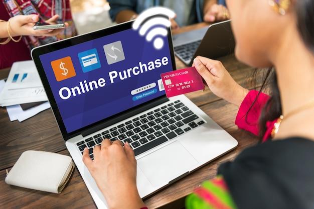 Compras en línea banca de comercio electrónico Foto gratis