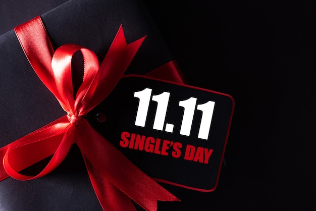 Compras en línea de china, 11.11 concepto de venta de día único. Foto Premium