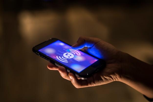 Concepto de aplicación de música de teléfono inteligente Foto gratis
