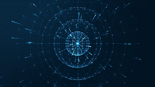 Concepto de centro de datos grande Foto Premium