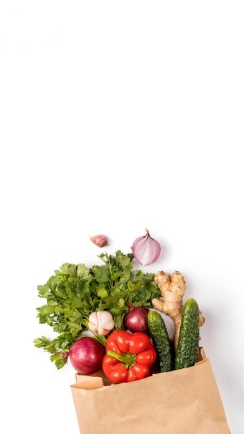 Concepto cero desperdicio, ecofriendly, veggie, eco Foto Premium
