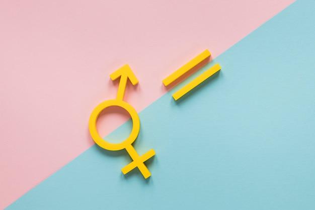 Concepto colorido de símbolos de igualdad de derechos Foto gratis
