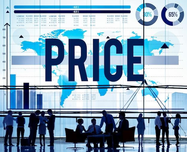 Concepto de compra de producto de precio de materia prima de costo de precio Foto gratis