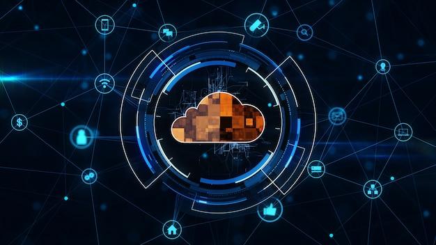 Concepto de computación en la nube Foto Premium