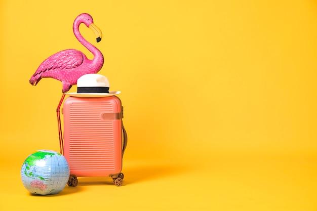 Concepto con cosas de viaje. Foto gratis