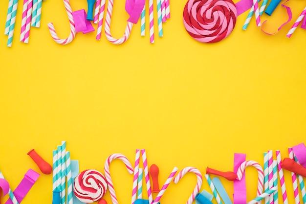 Concepto de celebración con dulces Foto Gratis