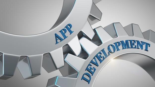 Concepto de desarrollo de aplicaciones Foto Premium