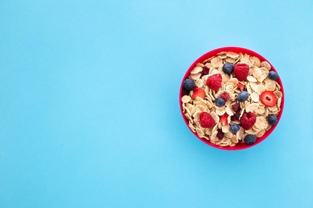 Concepto de desayuno dulce saludable Foto gratis