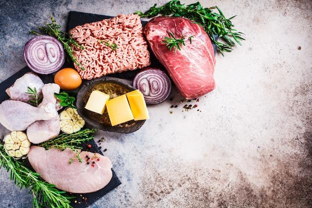 dieta carne huevo y queso