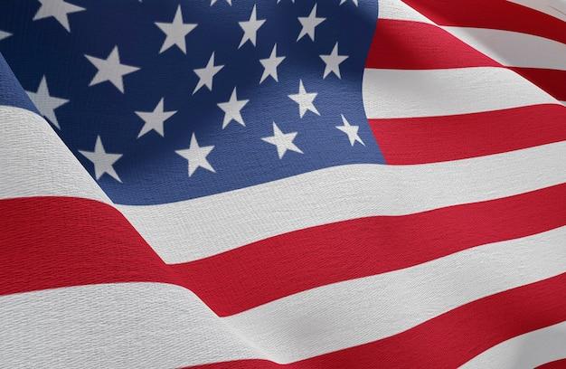 Concepto de elecciones estadounidenses con la bandera de estados unidos Foto gratis
