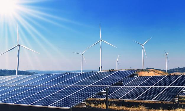 Concepto energía limpia energía en la naturaleza. Foto Premium